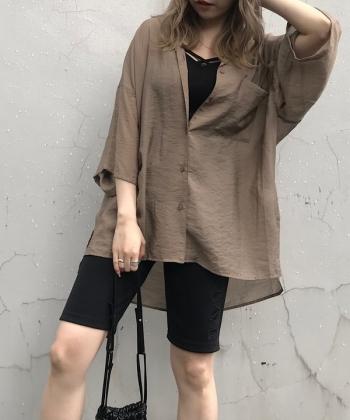 Sheer半袖シャツ