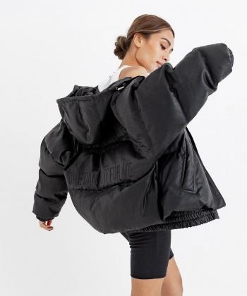 Eco Leather刺繍中綿ジャケット